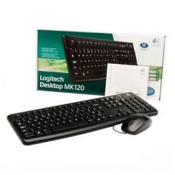 Logitech - Set teclado y mouse MK120