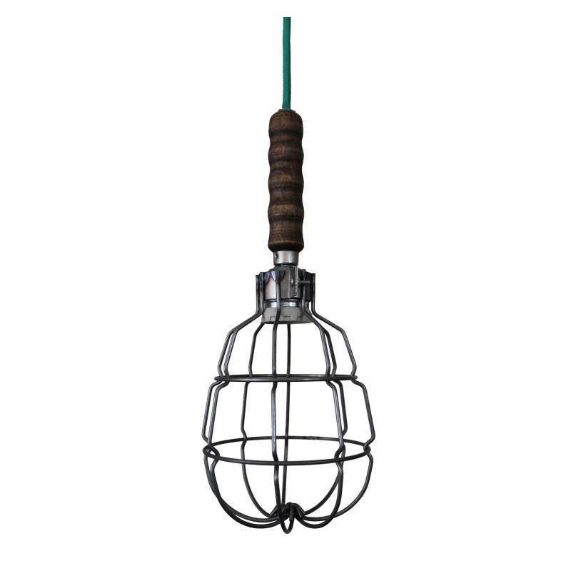Lámpara colgante granada 35x15 cm