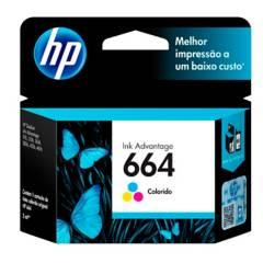 HP - Cartucho de impresión 664 tricolor
