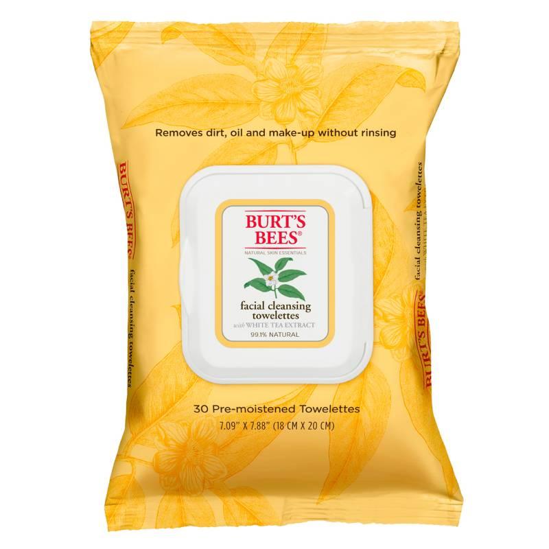 Burt´s Bees - Toallitas Desmaquillantes de Té Blanco x 30u