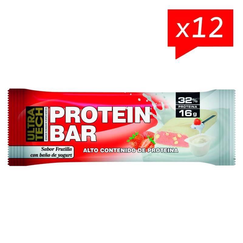 Ultra Tech - Protein bar - 50 g frutilla con yogur x 12 unidades