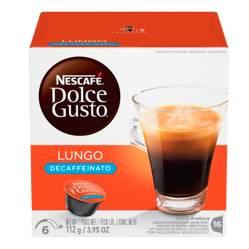 Nescafé - Pack por 16 cápsulas Lungo Descafeinado café Dolce Gusto