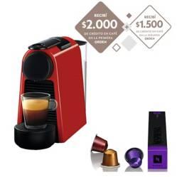 Nespresso - Cafetera Essenza Mini Red D30-AR-RE-NE