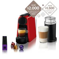 Cafetera Essenza Mini Red + Aeroccino 3 A3ND30-AR-RE-NE