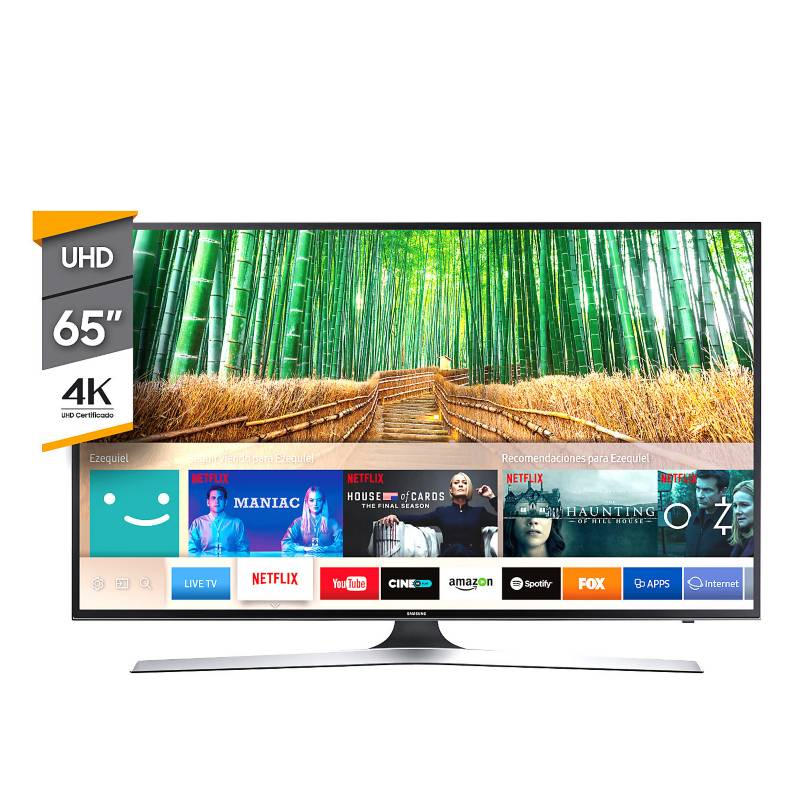 "Samsung - Smart TV 65"" 4K Ultra HD MU6100"