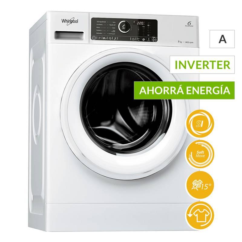 Whirlpool - Lavarropas WLCF85B 8.5kg Sense Inverter 1400RPM