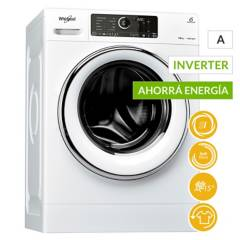 Whirlpool -  Lavarropas WLCF10B 10 kg Sense Inverter1400RPM