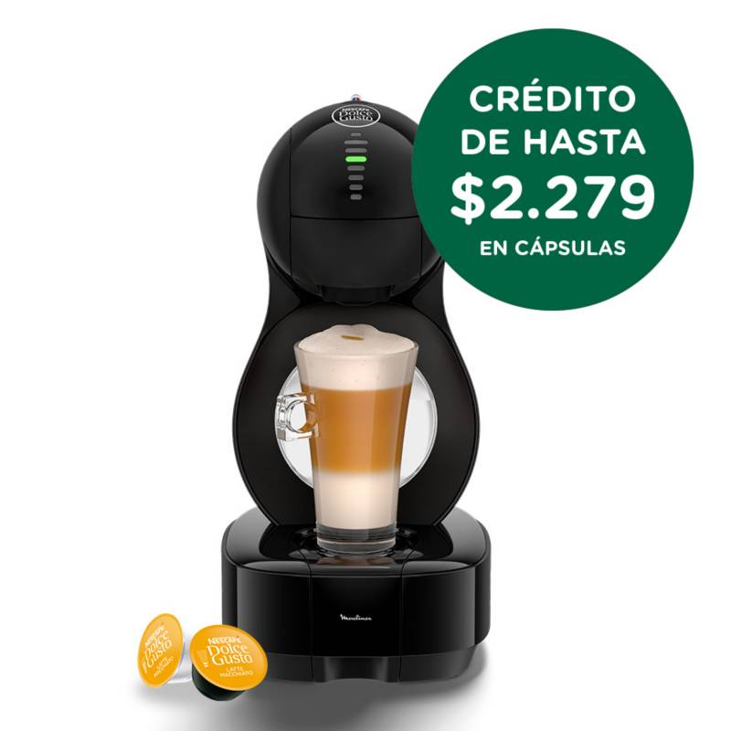Moulinex - Cafetera Nescafé® Dolce Gusto® Lumio negra