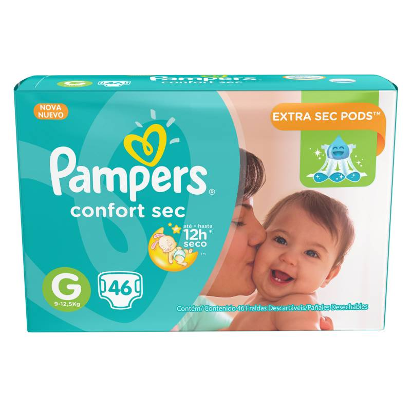 Pampers - Pañales Premium Care M 52 Unidades