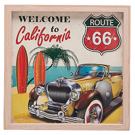Cuadro Welcome to California 21.5 cm