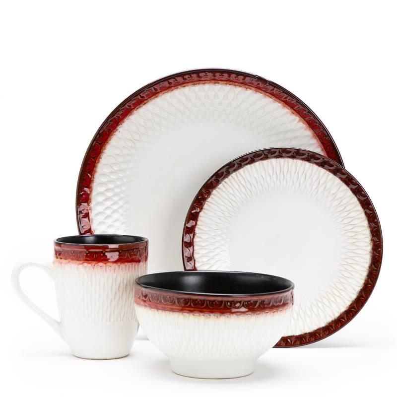 Mica - Juego de vajilla cerámica 16 piezas