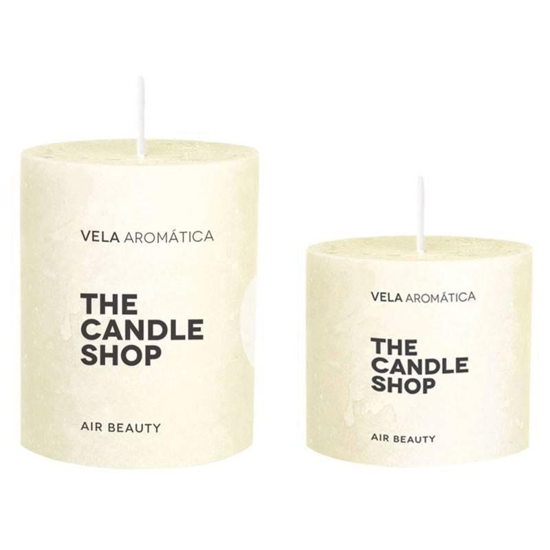 The Candle Shop - Set por 2 velas flor de azahar 6 x 6 cm + 6 x 10 cm