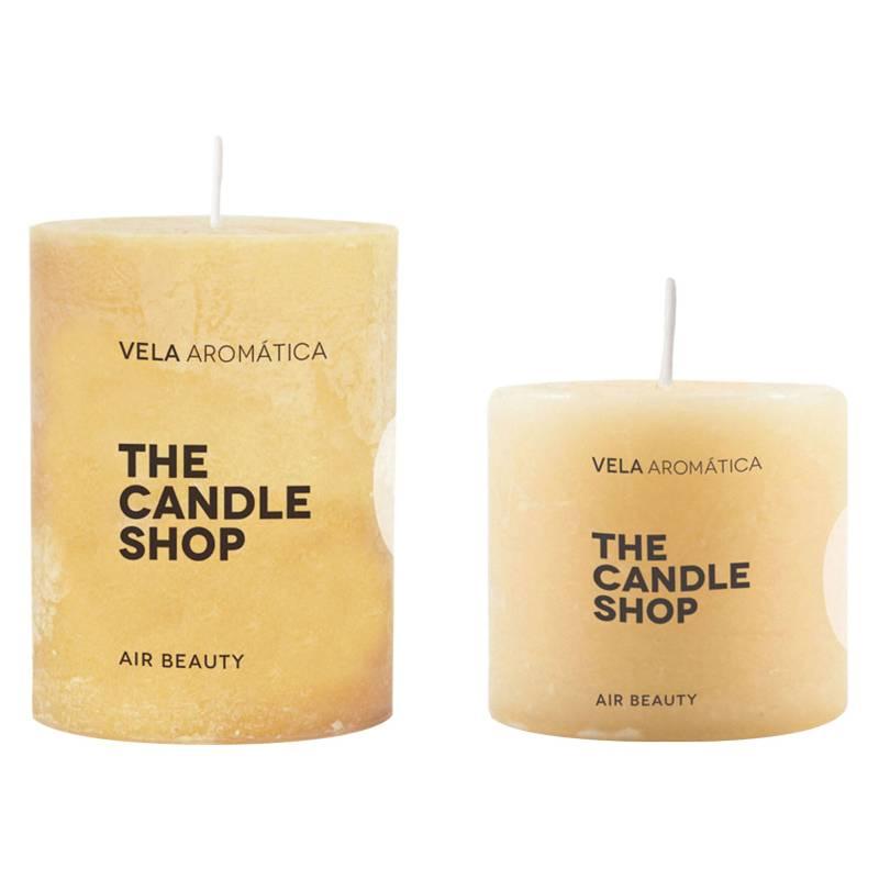 The Candle Shop - Set por 2 velas magnilio vainilla 6 x 6 cm + 6 x 10 cm