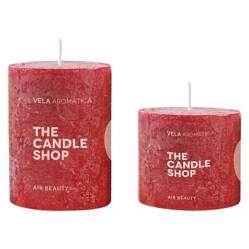 Set por 2 velas manzana canela 6 x 6 cm + 6 x 10 cm