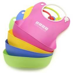 Baby innovation - Babero con bolsillo contenedor