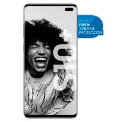 Samsung - Celular libre S10 plus negro 128GB 6GB RAM
