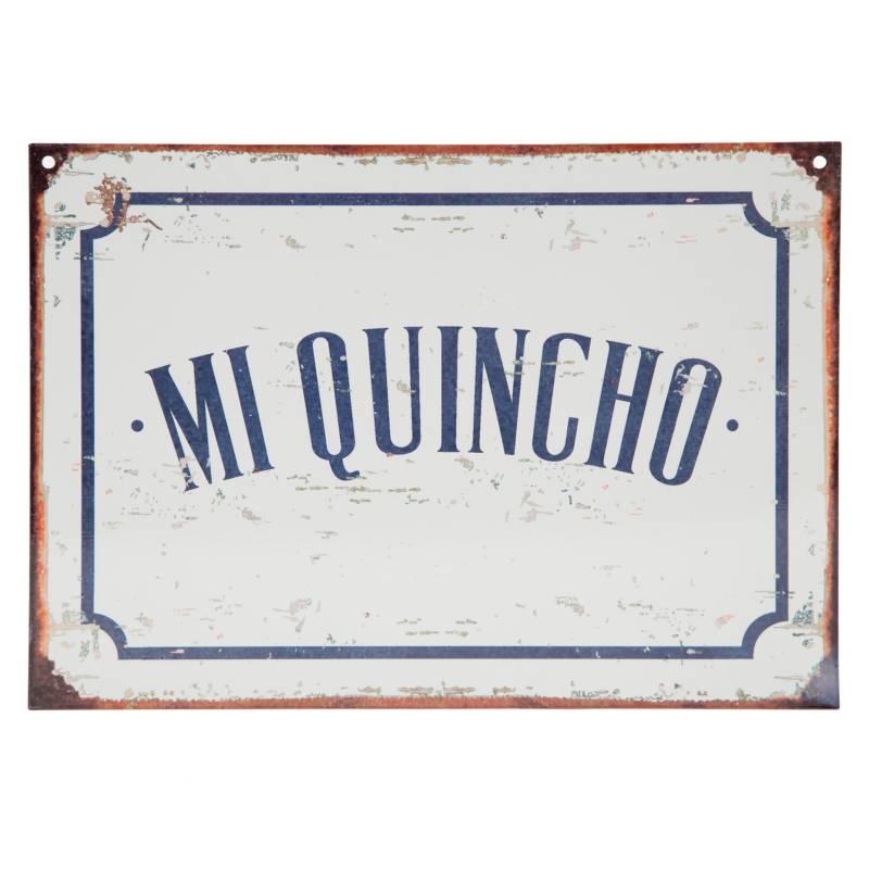 Club del Poster - Cartel de chapa Mi quincho 28x20 cm