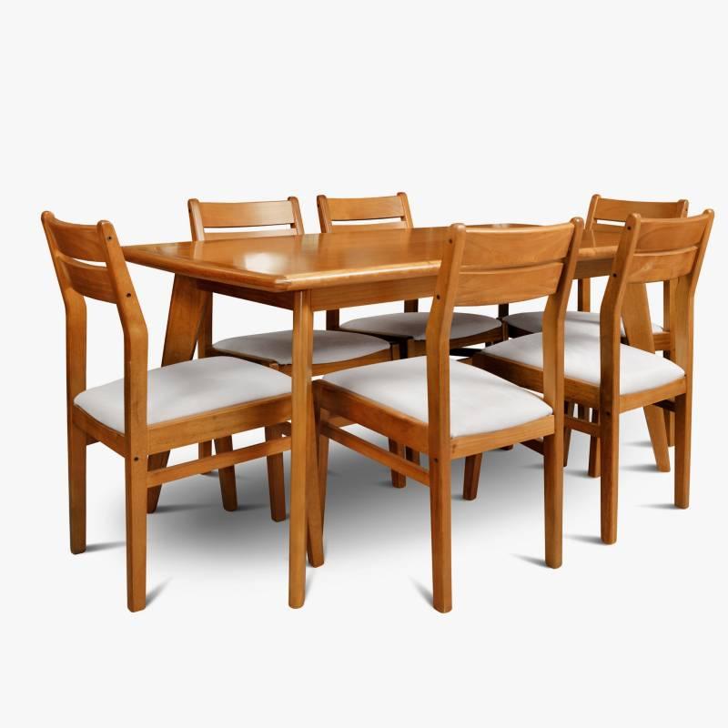 Muebles Patria - Juego de comedor 6 puestos Docta