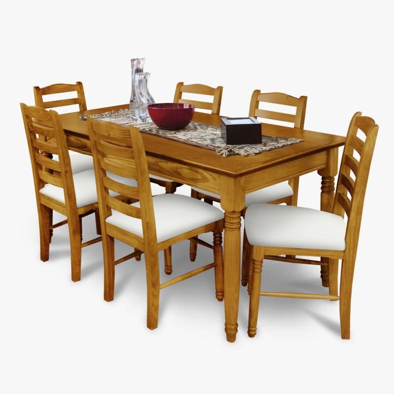Muebles Patria - Juego de comedor Tradición  7 piezas