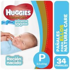 Huggies - Pañales Natural Care P 34 pañales