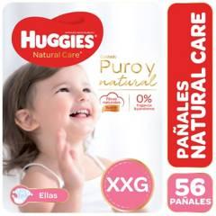 Huggies - Pañales Natural Care XXG 56 unidades