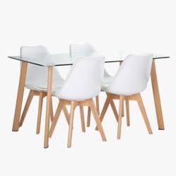 Juego de comedor Ferra 140 con 4 sillas