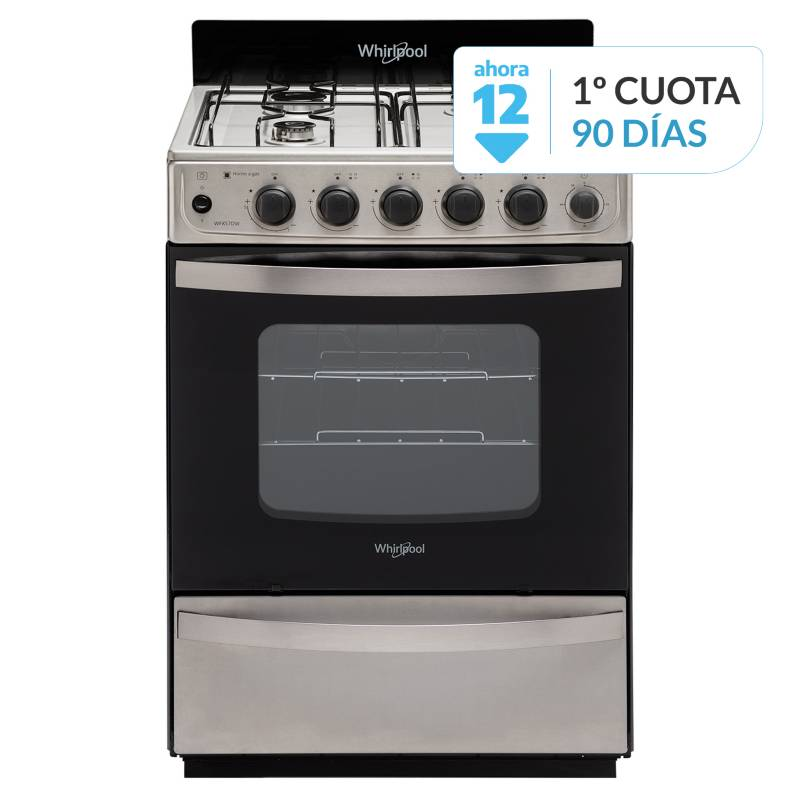 Whirlpool - Cocina a gas  WFX57DW 56 cm