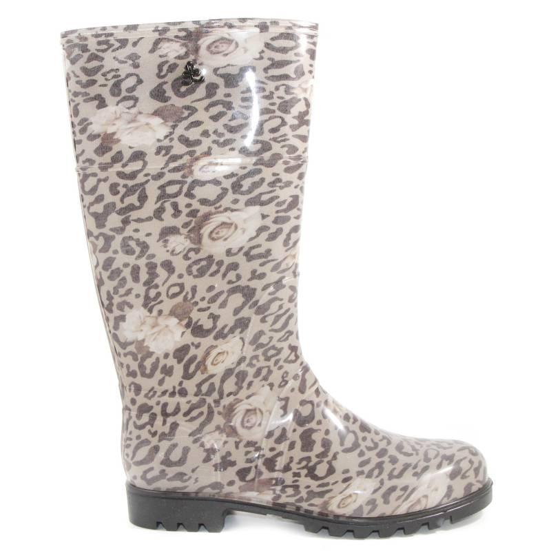 Citadina. - Botas de lluvia Leopardo