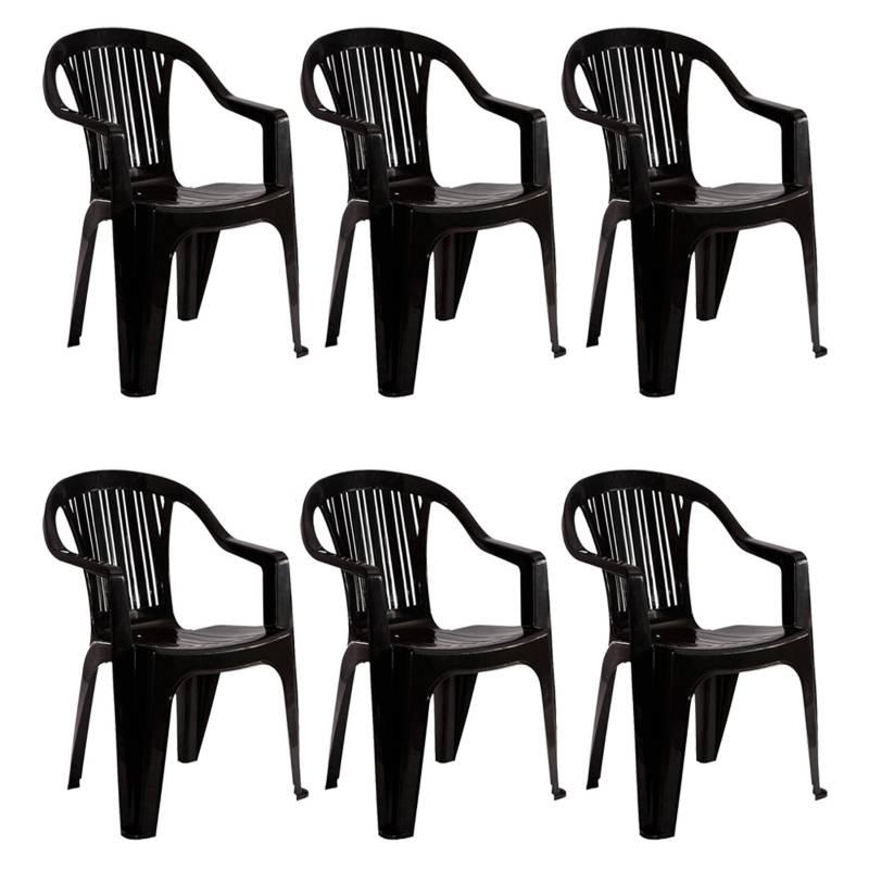 Garden Life - Juego de 6 sillas Titan