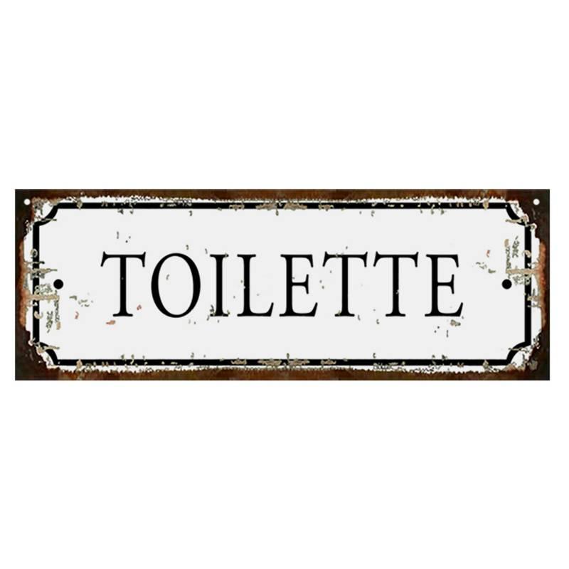 Club del Poster - Cartel de chapa Toilette