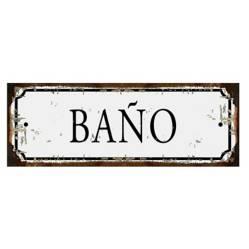 Cartel de chapa Baño