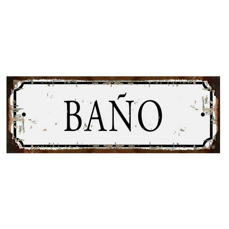 Club del Poster - Cartel de chapa Baño