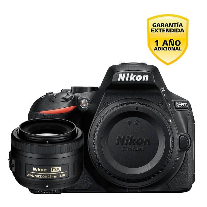 Nikon - Kit cámara reflex D5600 + lente 35MM
