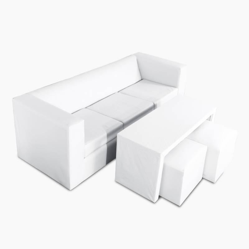 Mi Sofa - Juego de living Cubo 65x180 cm
