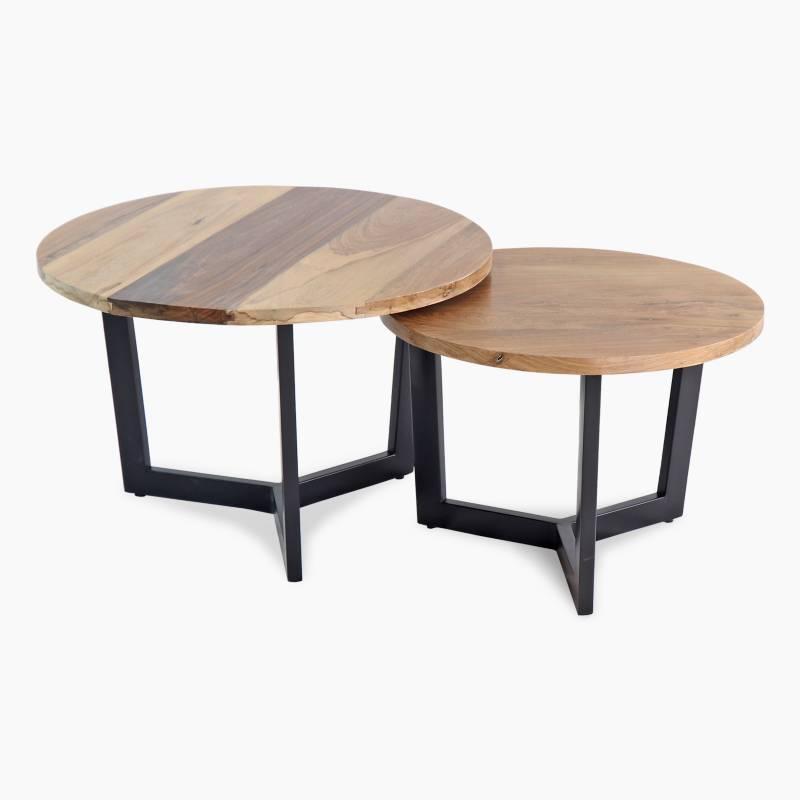Full Confort - Juego de 2 mesas ratonas Circular