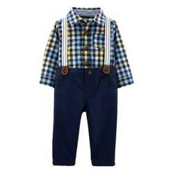 Carter´s - Conjunto camisa y pantalón con tiradores 3 a 24 meses