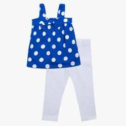 Carter´s - Conjunto pantalón y musculosa lunares 3 a 6