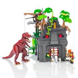 Dinosaurio con accesorios