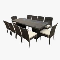Elegance Jardín - Juego de jardín Belmont 10 sillas