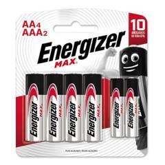Energizer - Set por 4 pilas AA + 2 materías AAA