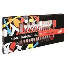 Simonaggio - Juego de cubiertos Toronto 24 piezas