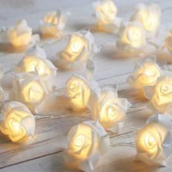 Guirnalda LED flores 3x100 cm