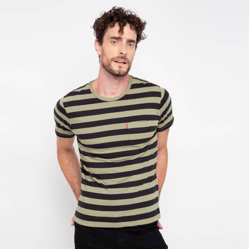 Levi's - Remera Classic Pocket Tee Stripe