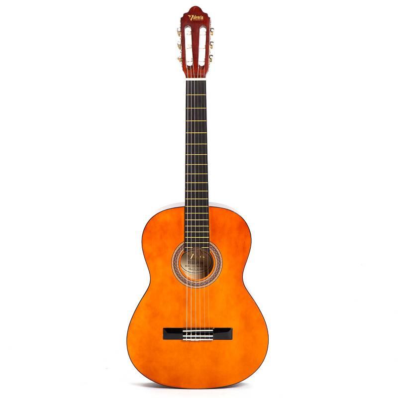 Valencia - Guitarra acústica de estudio con funda y afinador