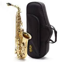 Knight - Saxo alto clave de F# laqueado con estuche ABS