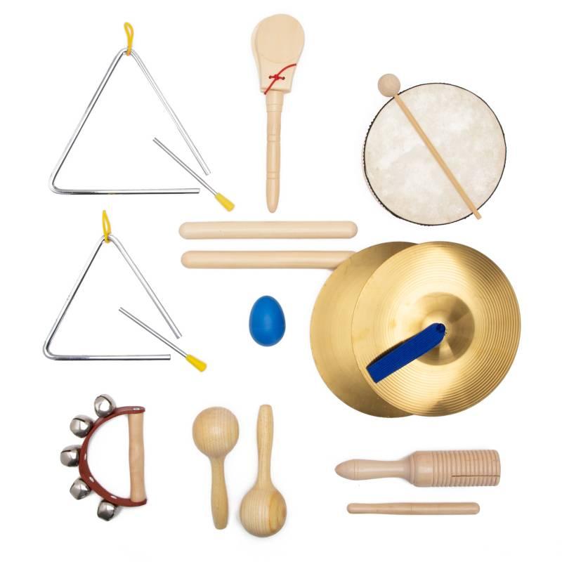 Knight - Set de percusión de 8 instrumentos para niños con valija
