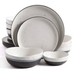 Gibson - Juego de vajilla cerámica Rhinebeck 16 piezas