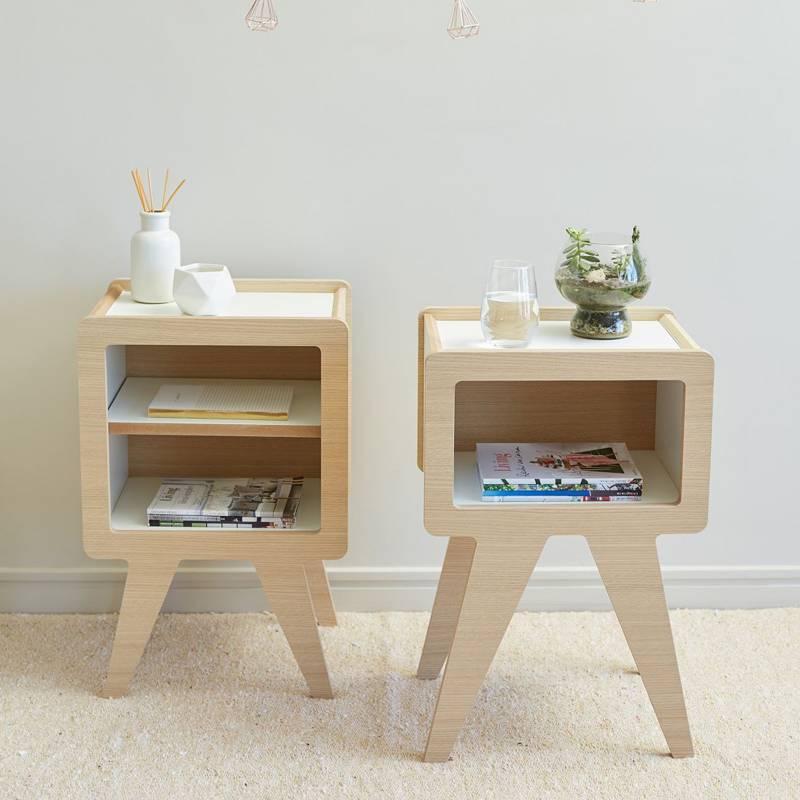 Mica - Set de mesas de luz simple-doble