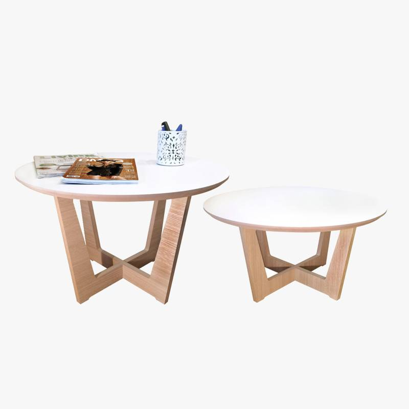 Mica - Set por 2 mesas de centro Roma