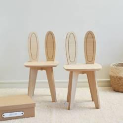 Mica - Set por 2 sillas infantiles Conejo